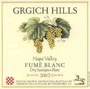 Grgich Hills Estate Fume Blanc (375ML half-bottle) 2002 Front Label