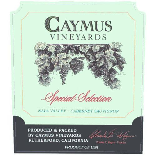 Caymus Special Selection Cabernet Sauvignon 2001 Front Label