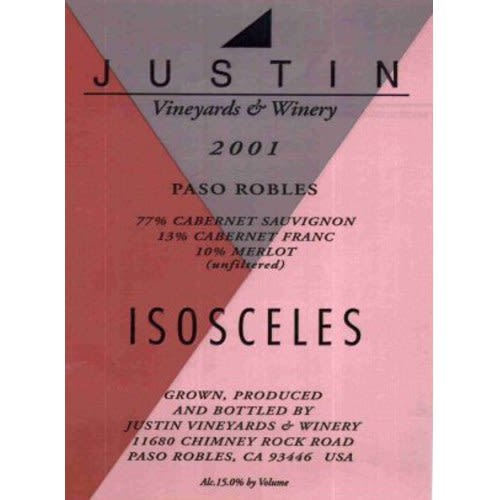 Justin Isosceles 2001 Front Label