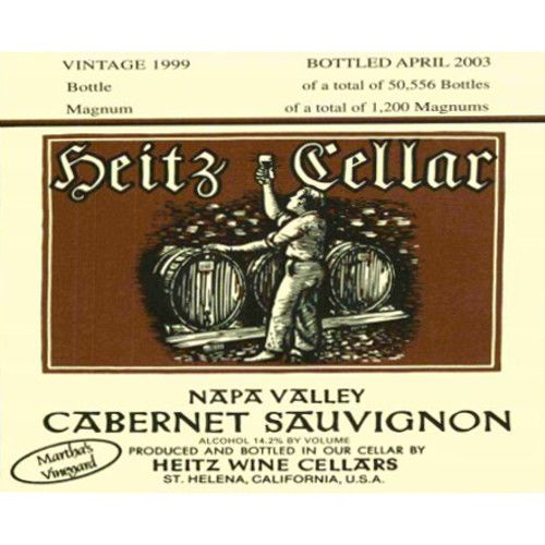 Heitz Cellar Martha's Vineyard Cabernet Sauvignon 1999 Front Label