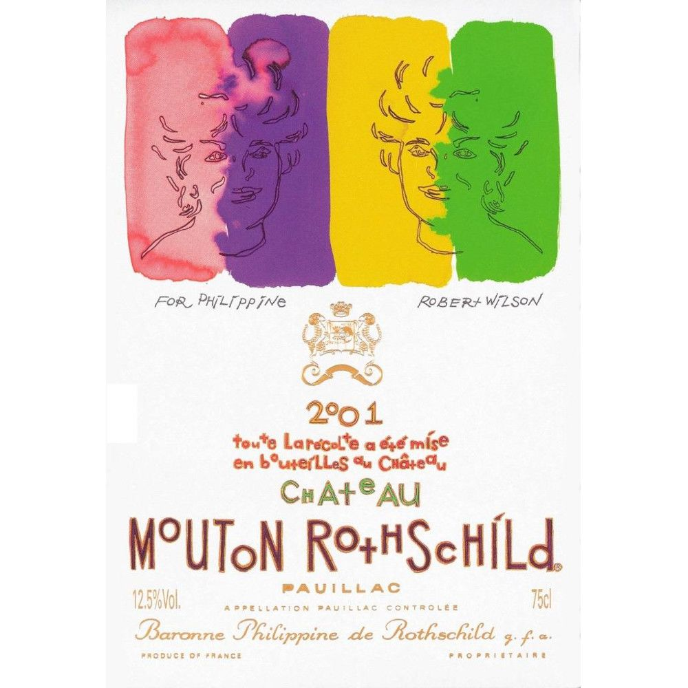 Chateau Mouton Rothschild  2001 Front Label