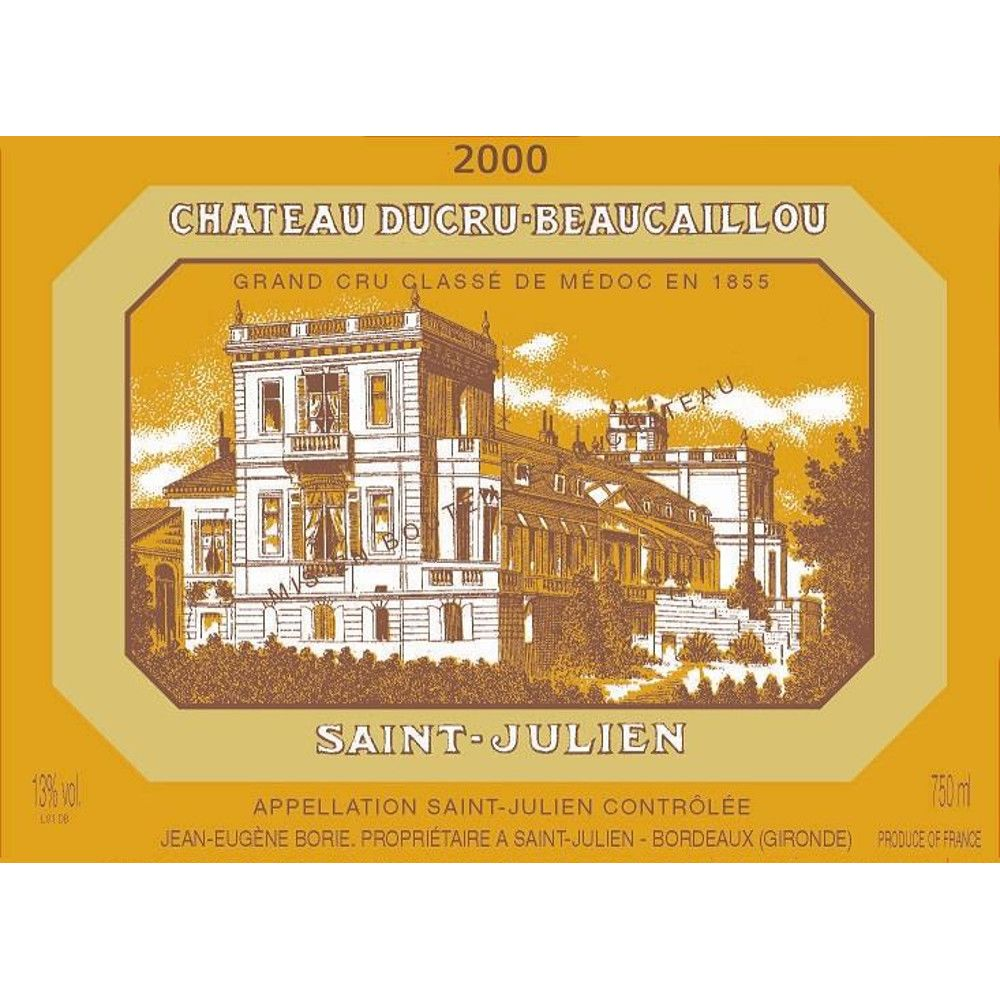Chateau Ducru-Beaucaillou  2000 Front Label