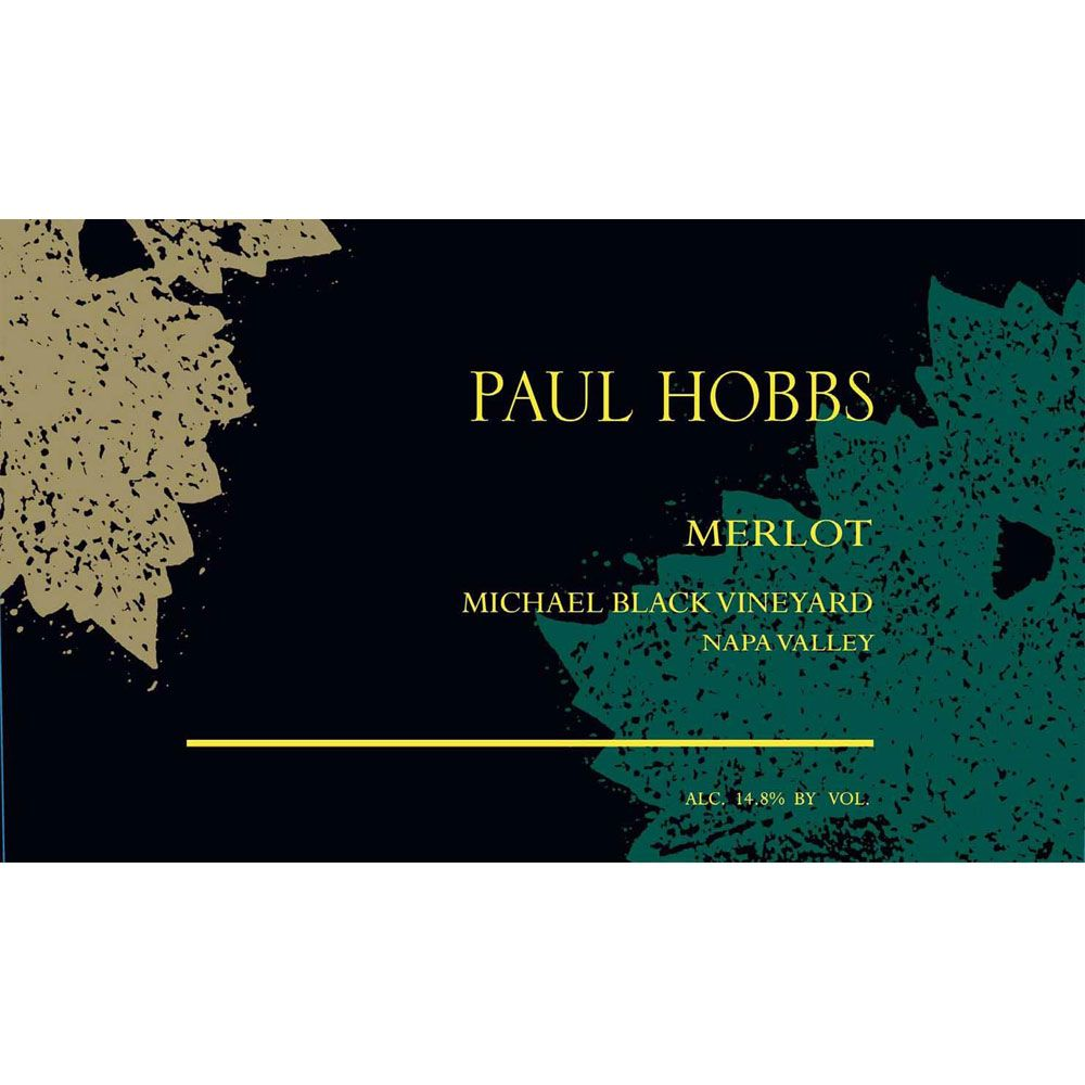 Paul Hobbs Michael Black Vineyard Merlot 2001 Front Label