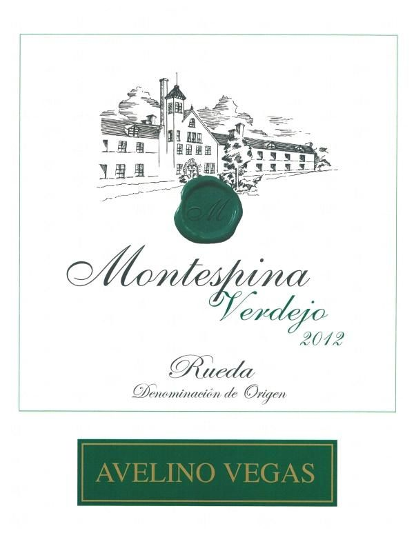 Montespina Verdejo 2012 Front Label