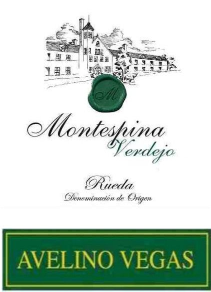 Montespina Verdejo 2011 Front Label