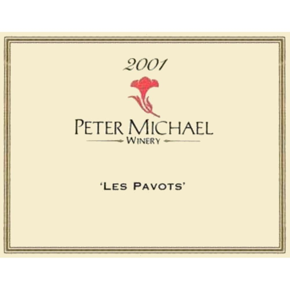 Peter Michael Les Pavots 2001 Front Label