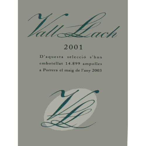 Vall Llach Priorat 2001 Front Label