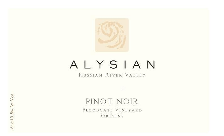 Alysian Floodgate Vineyard Origins Pinot Noir 2012 Front Label