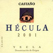 Bodegas Castano Hecula 2002 Front Label