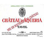 Chateau D'Aqueria Tavel Rose 2003 Front Label