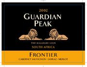 Guardian Peak Frontier 2002 Front Label