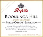 Penfolds Koonunga Hill Shiraz-Cabernet 1998 Front Label