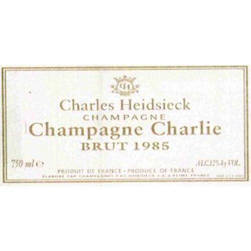 Charles Heidsieck Champagne Charlie 1985 Front Label