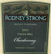 Rodney Strong Chalk Hill Chardonnay 2002 Front Label