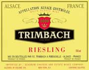 Trimbach Riesling (half-bottle) 2002 Front Label