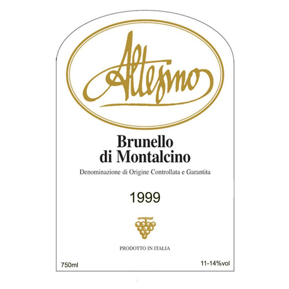 Altesino Brunello di Montalcino 1999 Front Label