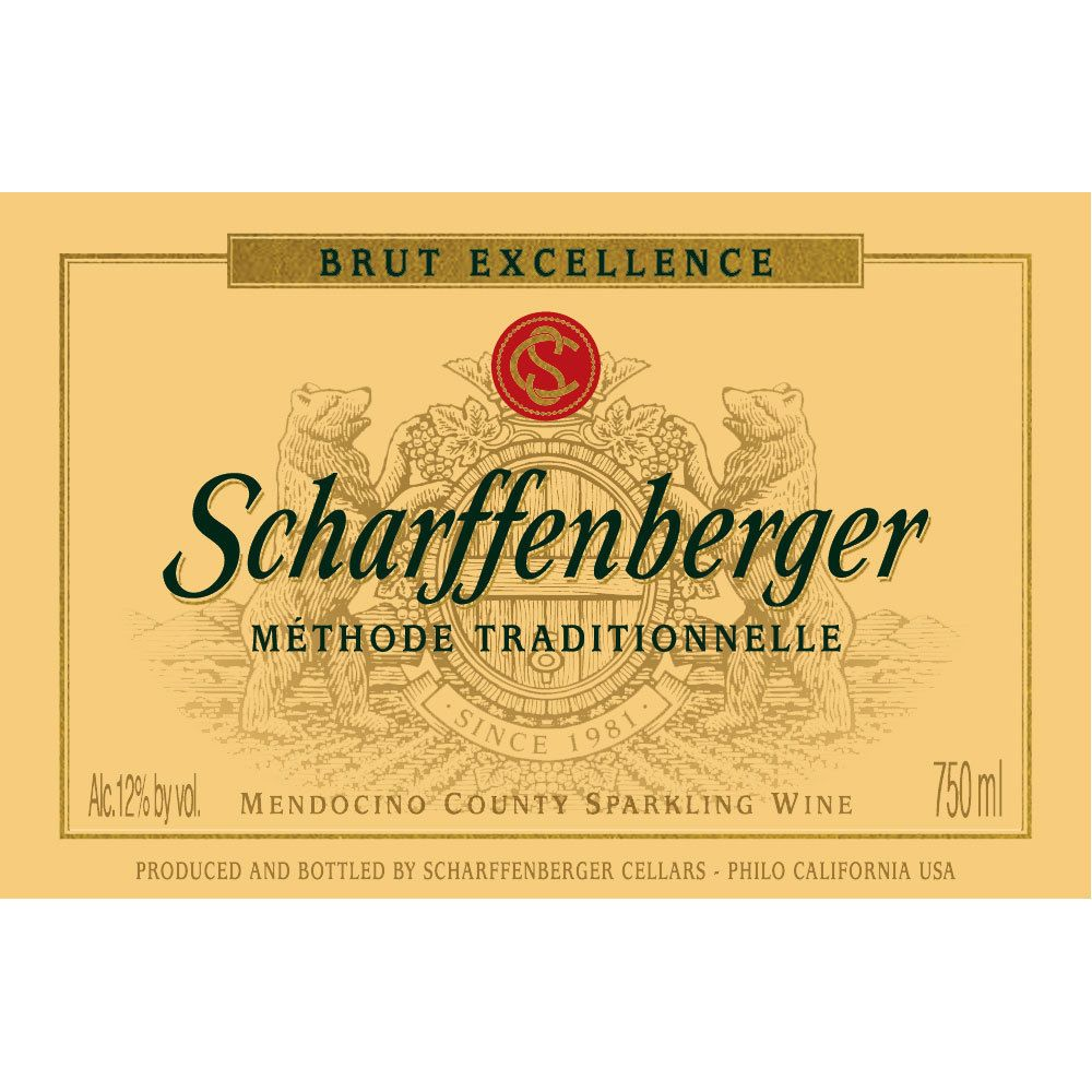 Scharffenberger Brut Excellence Front Label