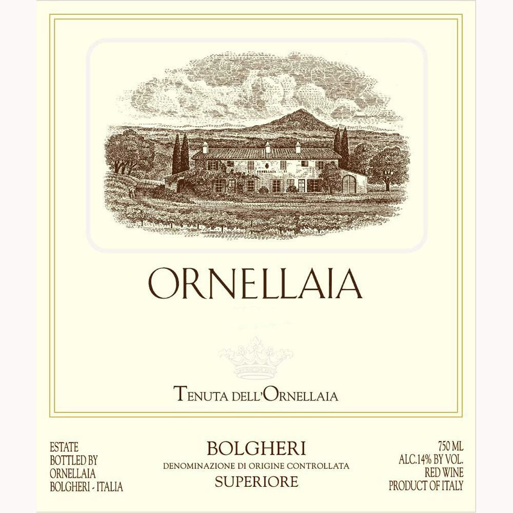 Ornellaia  2001 Front Label