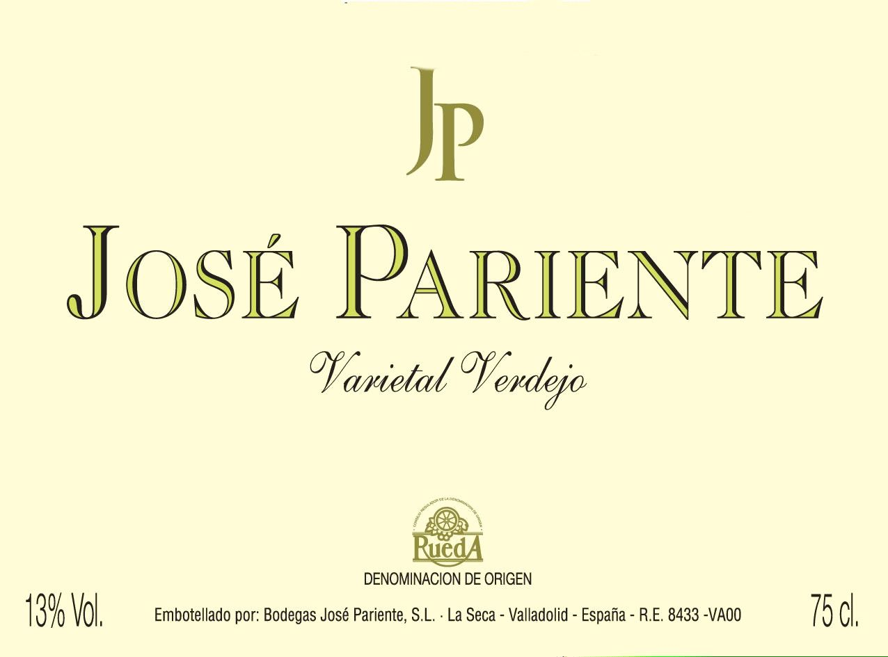 Jose Pariente Verdejo 2010 Front Label