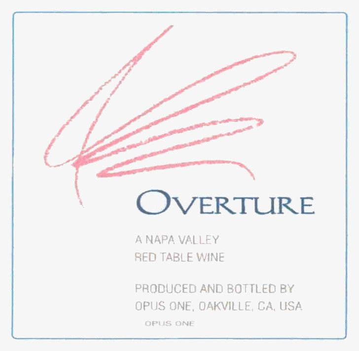 Opus One Overture 2013 Front Label