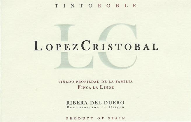 Lopez Cristobal Tinto Roble 2011 Front Label
