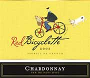 Red Bicyclette Chardonnay 2003 Front Label