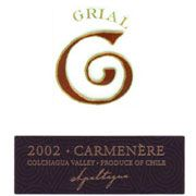 Apaltagua Grial Carmenere 2002 Front Label