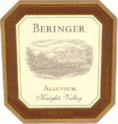 Beringer Knights Valley Alluvium Red 2000 Front Label