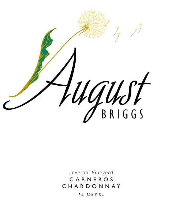 August Briggs Leveroni Vineyard Chardonnay 2014 Front Label