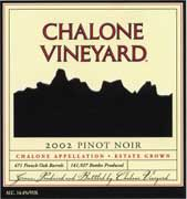 Chalone Estate Pinot Noir 2002 Front Label