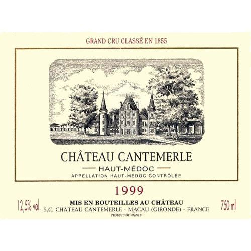 Chateau Cantemerle  1999 Front Label