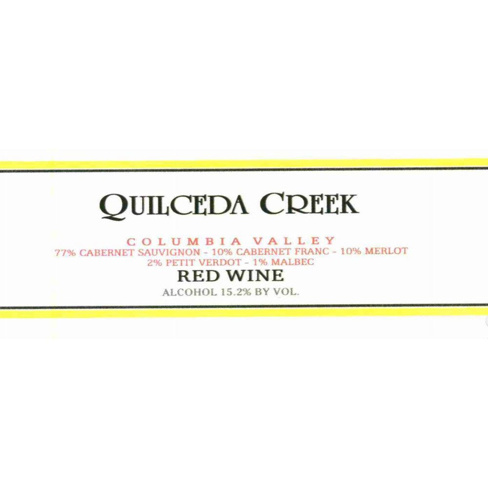 Quilceda Creek Columbia Valley Red 2001 Front Label