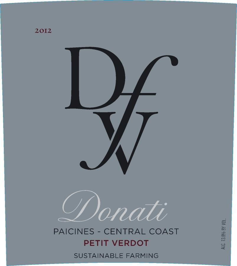 Donati Family Vineyards Petit Verdot 2012 Front Label