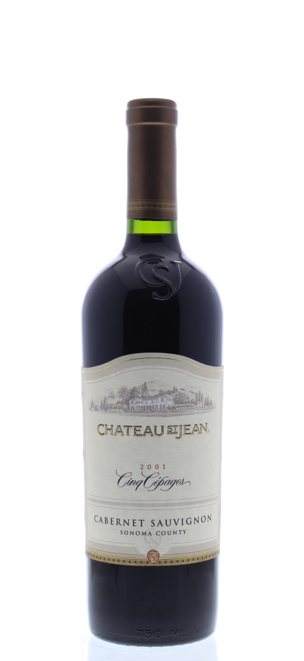 Chateau St. Jean Cinq Cepages 2001 Front Bottle Shot