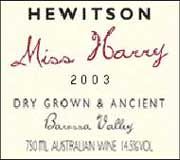 Hewitson Miss Harry G.S.M. 2003 Front Label