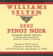 Williams Selyem Russian River Valley Pinot Noir 2002 Front Label