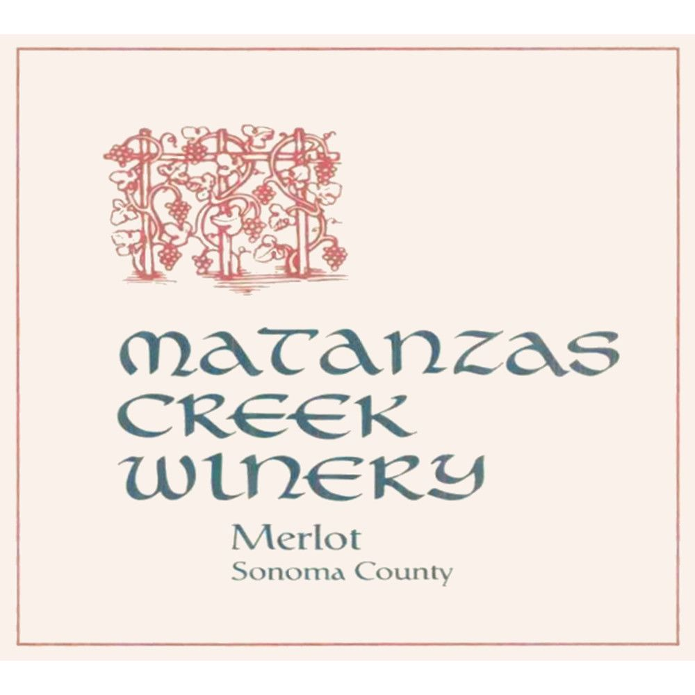 Matanzas Creek Sonoma County Merlot 2002 Front Label