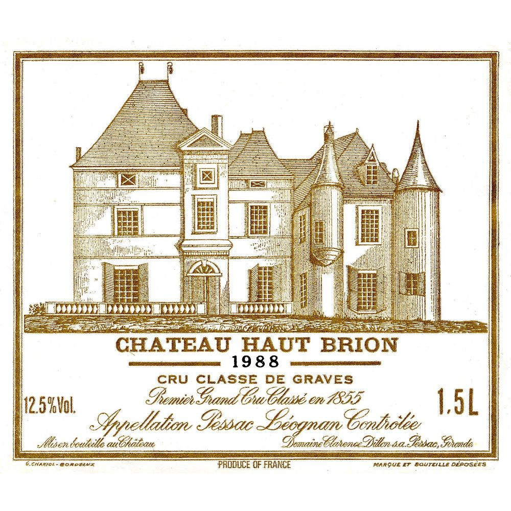 Chateau Haut-Brion  1988 Front Label