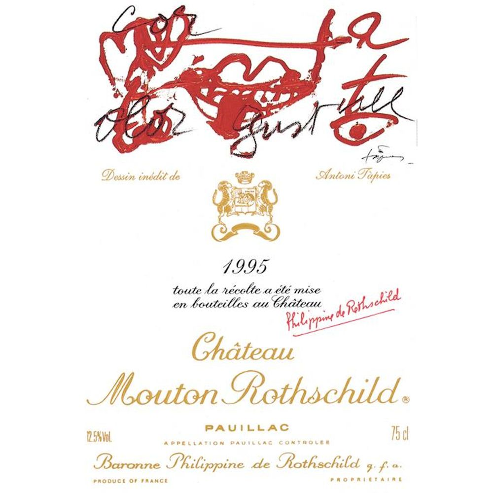 Chateau Mouton Rothschild  1995 Front Label