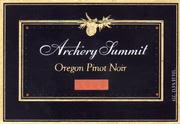 Archery Summit Red Hills Estate Pinot Noir 1997 Front Label