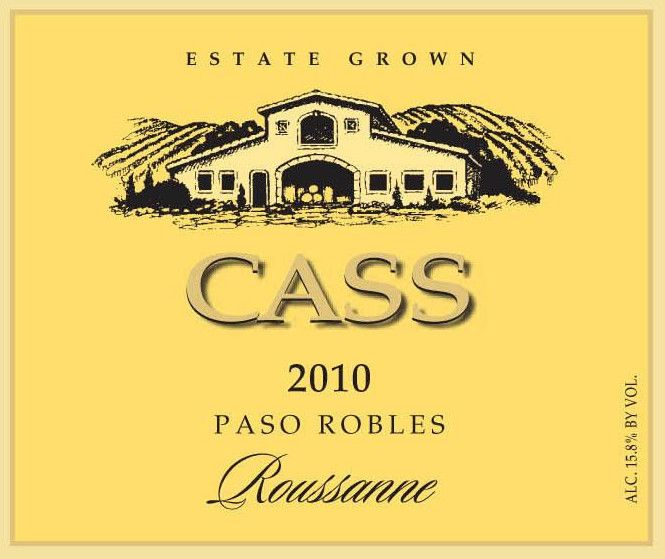 Cass Winery Roussanne 2010 Front Label