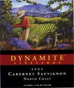 Dynamite Vineyards Cabernet Sauvignon 2002 Front Label