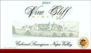 Vine Cliff Napa Valley Cabernet Sauvignon 2001 Front Label