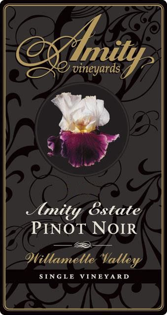 Amity Amity Estate Pinot Noir 2008 Front Label