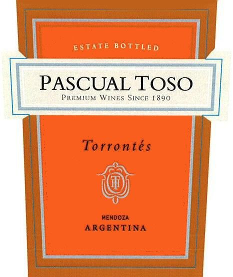 Pascual Toso Torrontes 2012 Front Label