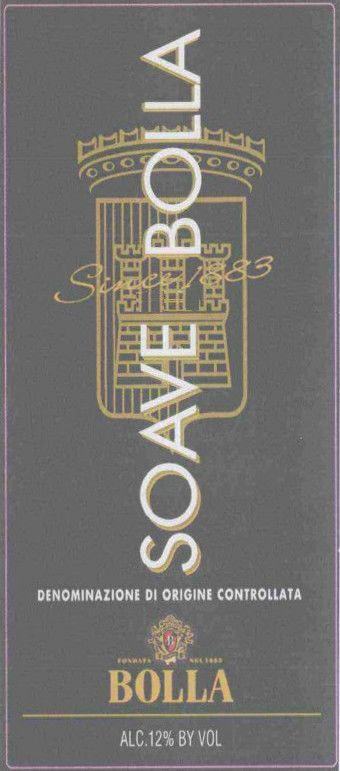 Bolla Soave 2005 Front Label