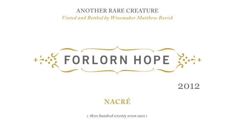Forlorn Hope Nacre Semillon 2012  Front Label