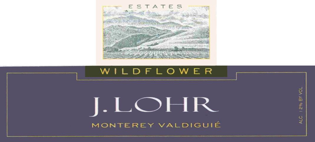 J. Lohr Wildflower Valdiguie 2005 Front Label