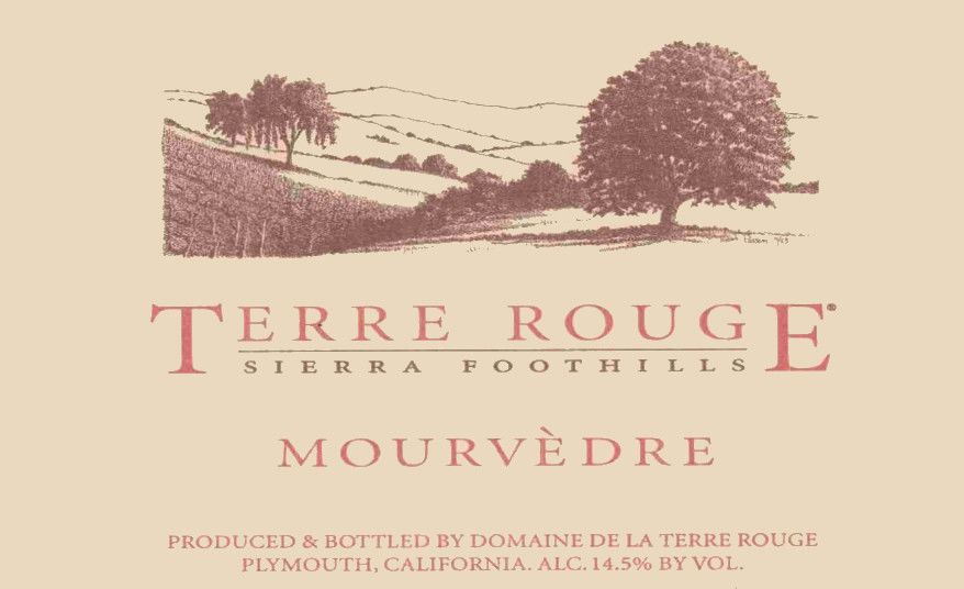 Terre Rouge Mourvedre 2002 Front Label