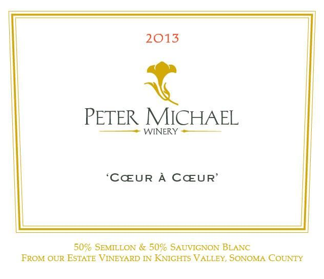 Peter Michael Coeur a Coeur White Blend 2013  Front Label